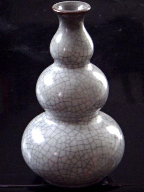 Vase Chine celadon triple gourde Chinese XXth