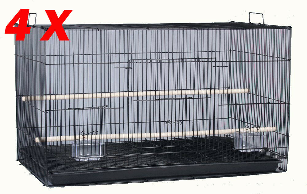 Lot of 4 Large 30  Breeding Breeder Aviaries Canaries Budgies Bird Cages BK579