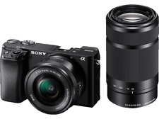 Artikelbild SONY Alpha 6100 Kit (ILCE-6100Y) 24.2 MP Objektive 16-50 mm, 55-210 mm OVP