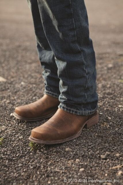 da64c864f18 Ariat Men's Rambler Brown Bomber Square Toe Boots 10002317