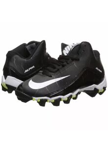 dfff3c759 Youth Nike Alpha Shark 2 - 3 4 BG Black White Football Cleats 719953 ...
