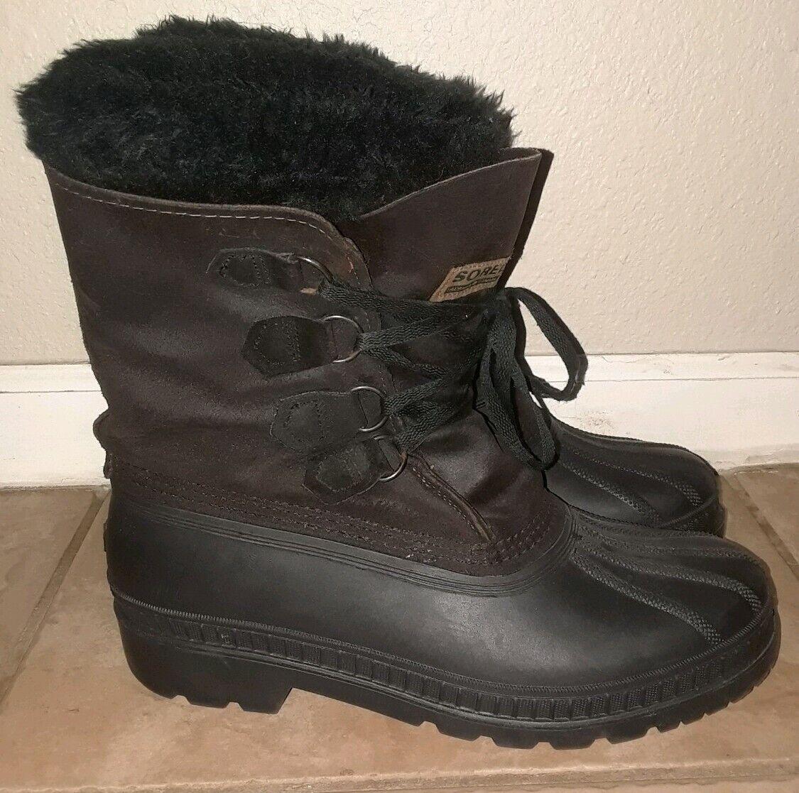 Sorel Caribou Kaufman Canadian Vintage Winter Stiefel Leather Sz Sz Sz 10 Wool Lining 658e71
