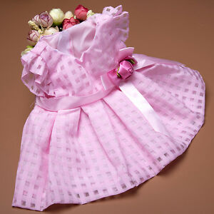 Handmade-Pink-Bowknot-Summer-Dress-Doll-Clothes-fits-18-034-Doll-Gift