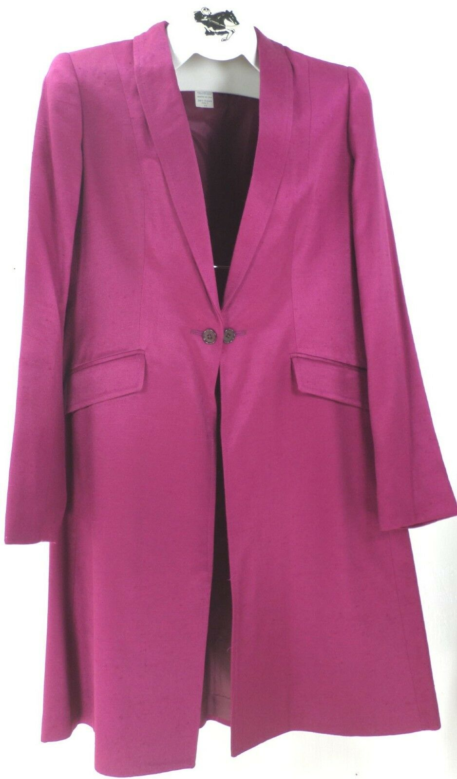 Reed Hill Saddleseat Day Coat  Dark Magenta Poly Linen blend size 10 -USA  100% free shipping