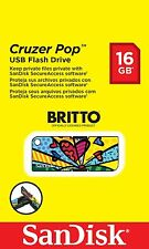 Unidad Flash Usb Sandisk Cruzer Pop 16GB-Edición Especial Britto