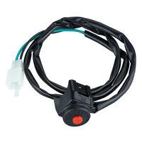 Electric Start Starter Switch Push Button Ignition For Honda Yamaha Black Usa