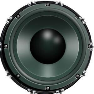aquarian 22 kick bass drum head graphical image front skin speaker 1 ebay. Black Bedroom Furniture Sets. Home Design Ideas