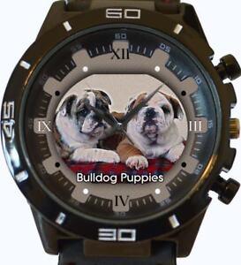 Bulldog Cuccioli Nuovo Gt Series Sport Unisex Regalo Orologio Da