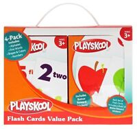 Playskool Flash Cards Value Pack - Alphabet/first Words/shapes And Colors/number on sale