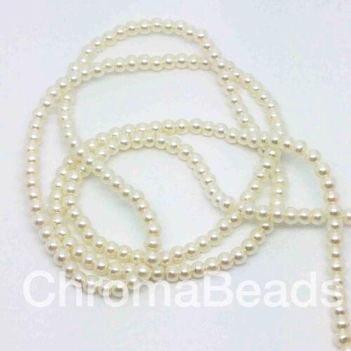 perlen schmuckherstellung,basteln 3mm Glas Kunstperlen strang Elfenbein 230