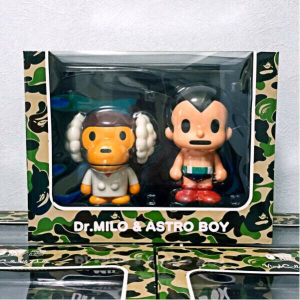 A BATHING APE MEDICOM BAPE DR. MILO ASTRO BOY Figure Rare From Japan F S