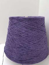 Wolle Garn Stricken&Handstricken |Kone Chenille 100% baumwolle lila 1kg Nm6 cf23