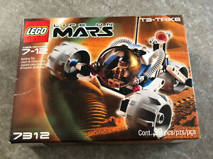 Lego-Space-Life-on-Mars-T3-Trike-7312-Retired-New-amp-Unopened-Set-Free-Shipping