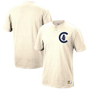 Mitchell-amp-Ness-Cream-MLB-Chicago-Cubs-s-s-Henley-Shirt