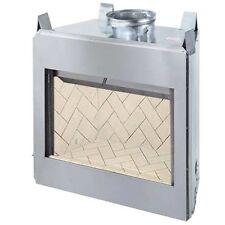 "FMI 36"" Georgian Paneled Woodburning Firebox W/Red Refractory Liner- G36H"