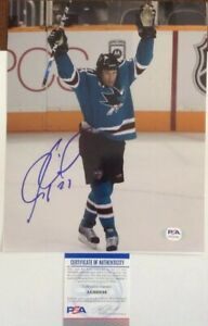 Jeremy-Roenick-PSA-Authenticated-Hand-Signed-8x10-Photo-San-Jose-Sharks-HOF