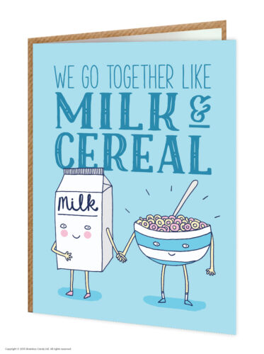 SALE Birthday Greetings Card Funny Comedy Humour Novelty Witty Joke Milk Cereal