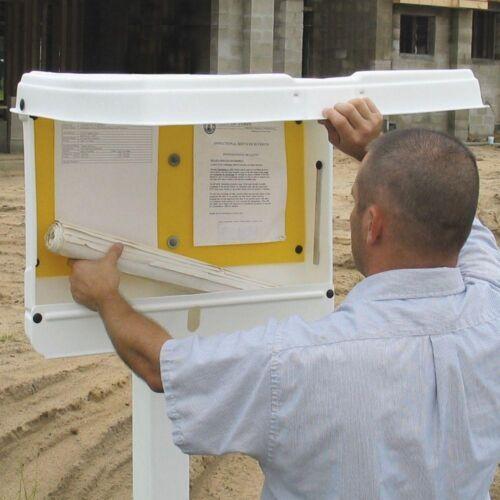 DOC-BOX 21 in x 27 in x 4 in Outdoor//Indoor Standard Posting Permit Box Unit
