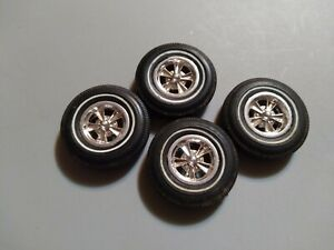 Amt Vintage Salvaged 1960's Whitewall Tires With Chrome Wheel Parts Lot (B-14)