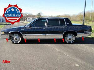 1991-1993-Cadillac-DeVille-4Dr-Sedan-Chrome-Rocker-Panel-Trim-Body-Side-FL