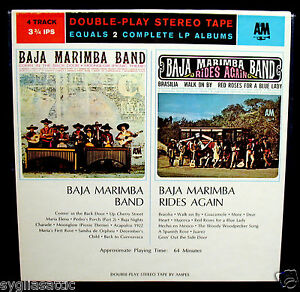 BAJA-MARIMBA-BAND-Reel-To-Reel-Tape-A-amp-M-AMF-104-DOUBLE-PLAY-TAPE-LATIN