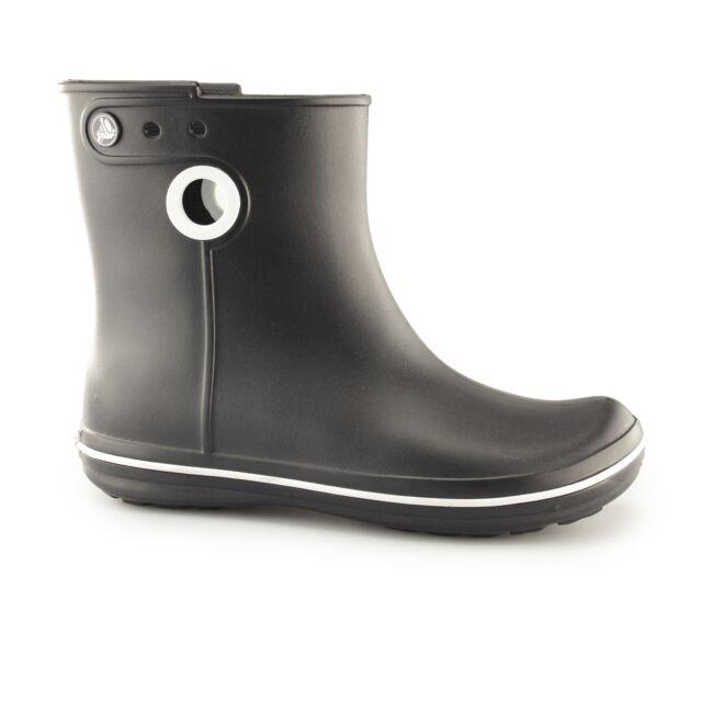 4488d87f3610 Crocs JAUNT SHORTY Ladies Womens Short Ankle Pull On Wellington Rain Boots  Black