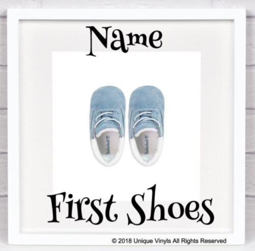 Première Chaussures Boîte-Cadre Personnalisé Autocollant Pour IKEA ribba Box Cadre Ajouter Nom