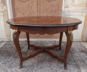 Splendido Tavolo Ovale Allungabile Epoca 800 Intarsiato Impreziosito Da Fregi Ebay
