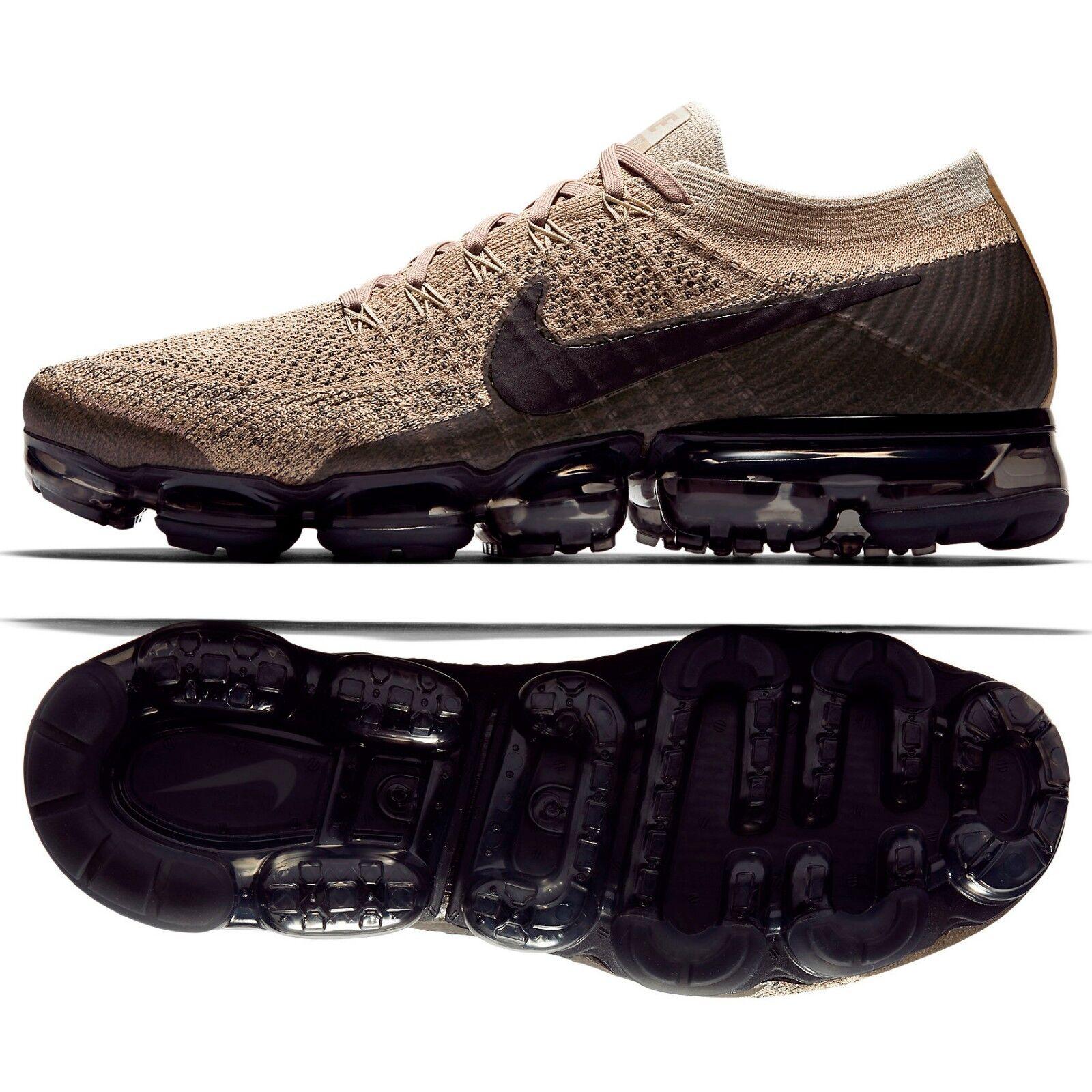 Nike Air VaporMax Flyknit Pudding 849558-201 Khaki Anthracite Men Running shoes