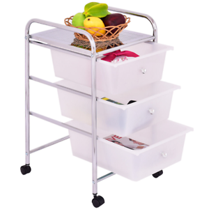 Attractive Image Is Loading Home Kitchen 3 Drawer Metal Rolling Storage Cart