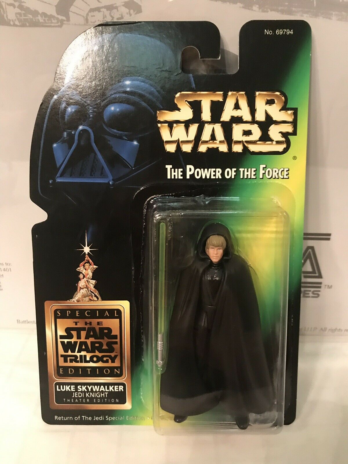 Star Wars The Power Of The Force Luke Skywalker Jedi Knight Theatre Edition