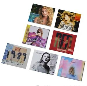 Taylor Swift 7 album 1989 Fearless Red Lover China Taiwan W/obi