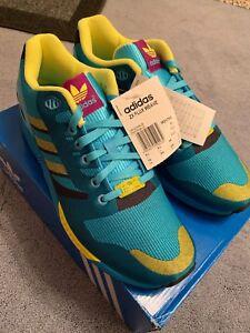 Adidas ZX FLUX WEAVE UK 9.5 AQUA 2014 M21788 Deadstock 8000 Torsion ... 240d554d9