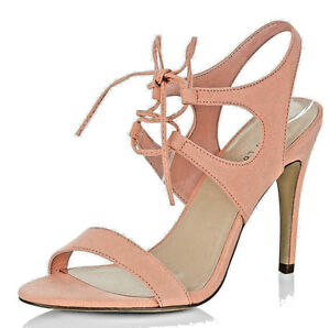 WOMENS NEW LOOK PLUS SIZE 9 43 PINK NUDE PEACH HIGH TRANSVESTITE SHOES SANDALS