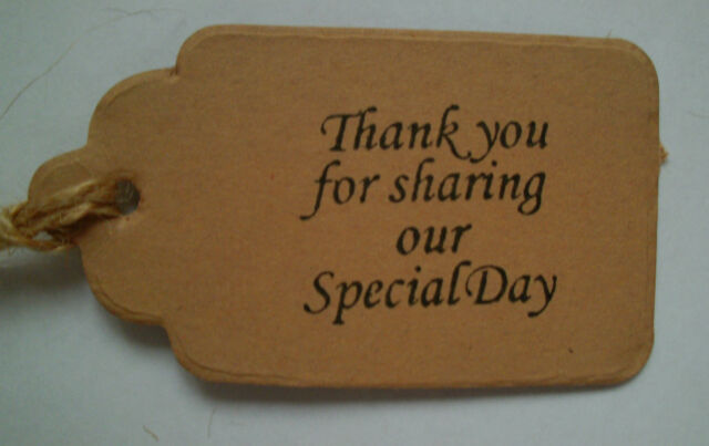 50 Vintage Style Tags Thank You For Sharing Our Special Day Wedding Favour Gifts