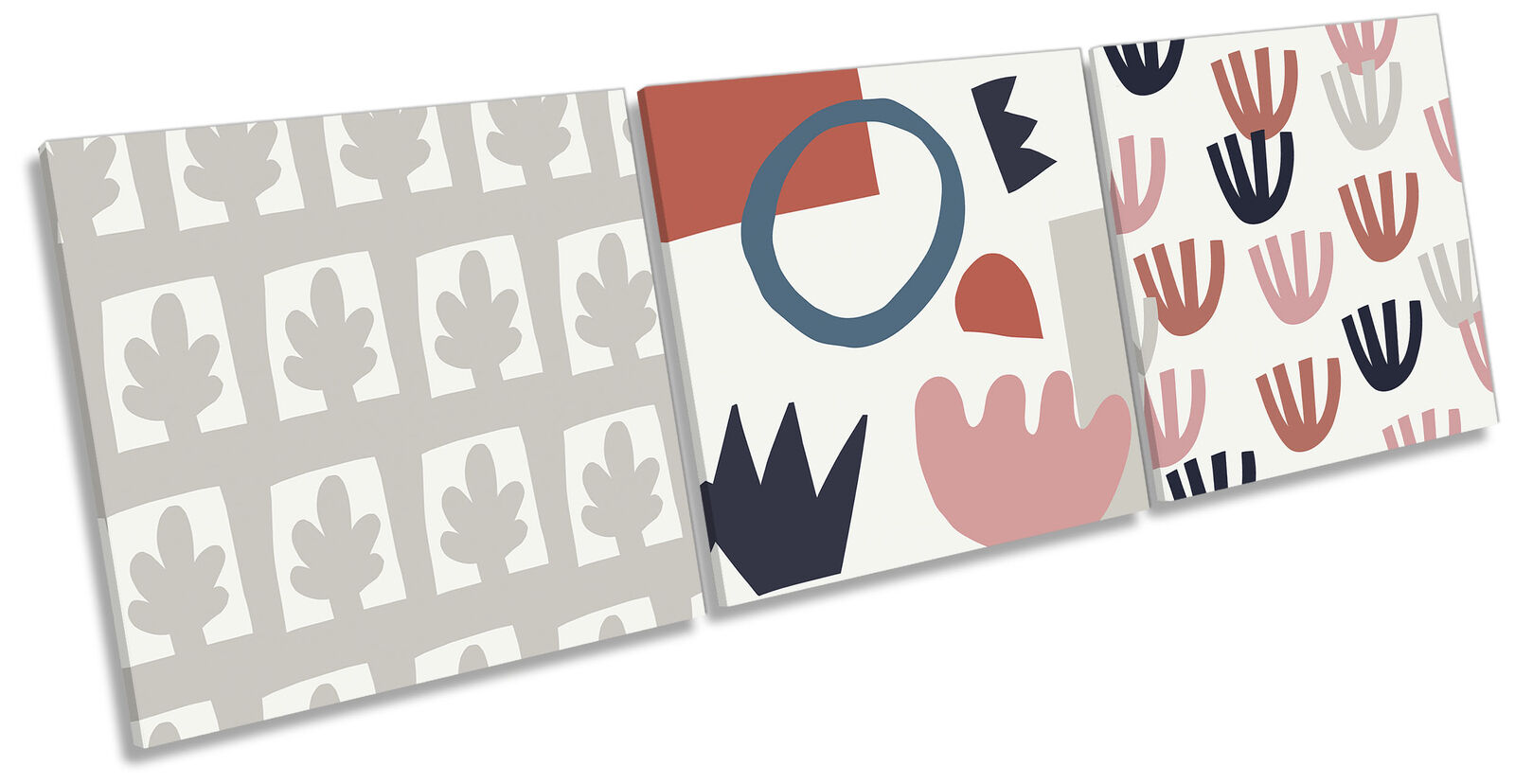 Bold Abstract Pattern Set of 3 CANVAS WALL ART Print Treble Fawn