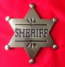GOLD DEPUTY SHERIFF STAR COWBOY WILDWEST WESTERN FANCY DRESS BELT BUCKLE