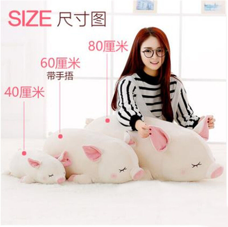 Cute Pig Stuffed Animal Pillow Plush Soft Doll Toy Cushion Kid Birthday Gift Sz