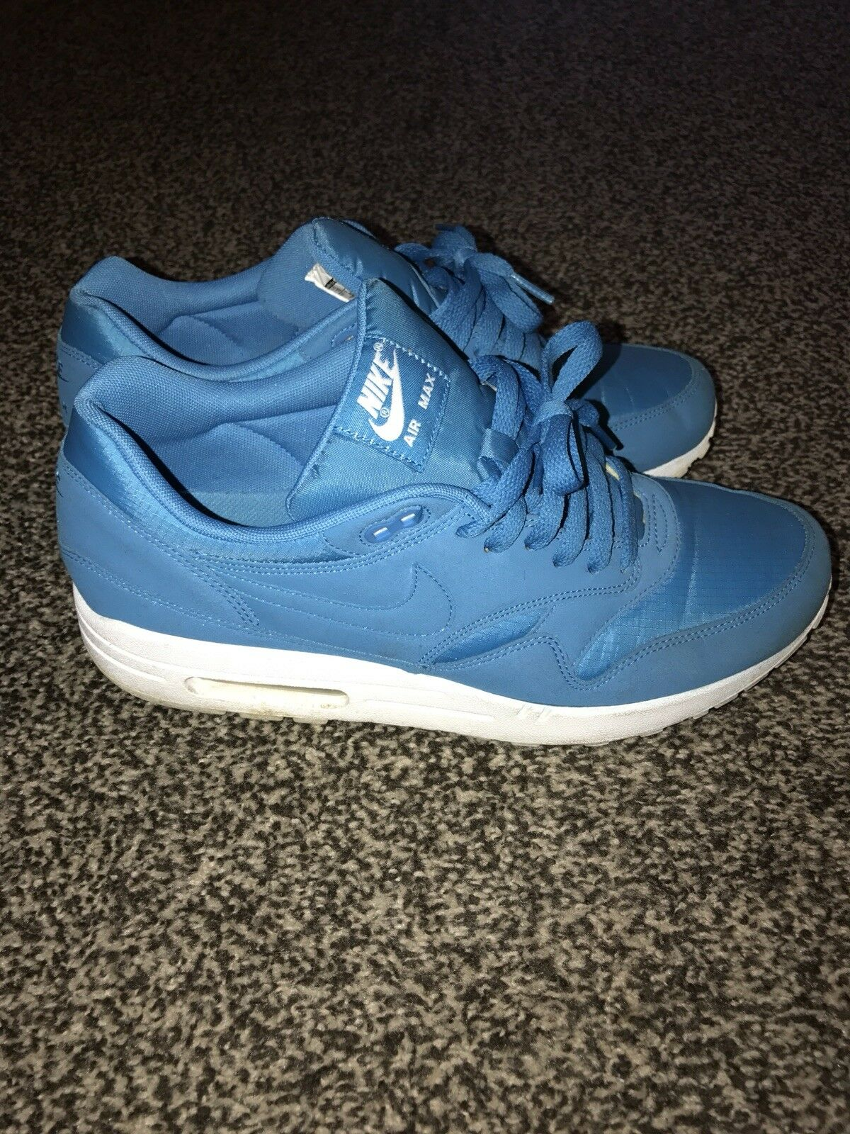Nike Airmax 1 Ripstop Size Electric Blue Nike Air Size Ripstop 10 b9856d