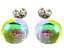 DICHROIC-Post-EARRINGS-1-4-034-10mm-Green-Lime-Purple-Clear-Tiny-Fused-GLASS-STUDS thumbnail 1