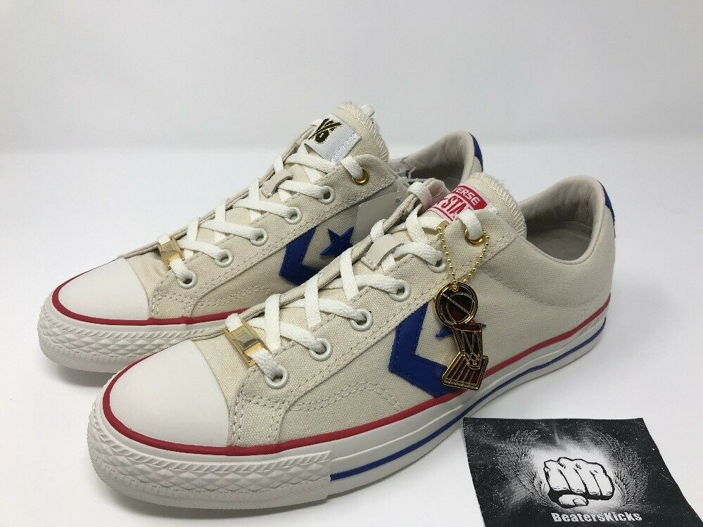 Converse Star Player Low Intangibles Wes Unseld 161409C Blanc Bleu Sz 8