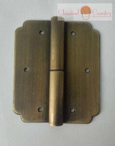 KUNSE Bisagras De Puerta China Muebles De Lat/ón Hardware Tronco Puerta De Gabinete Bisagras Cobre Drag/ón 3.15