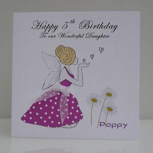 Personalised girls fairy birthday card 3rd 4th 5th 6th 7th image is loading personalised girls fairy birthday card 3rd 4th 5th bookmarktalkfo Image collections