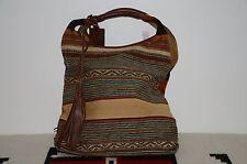 Ralph Lauren Indian Serape & Leather Tote Hobo Bag