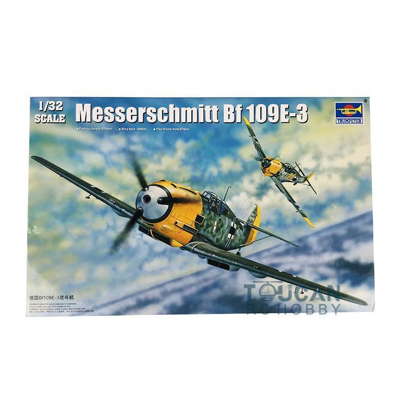 Model Kit Airplane Messerschmitt BF-109E 3 Fighter Trumpeter 02288 1 32 Aircraft