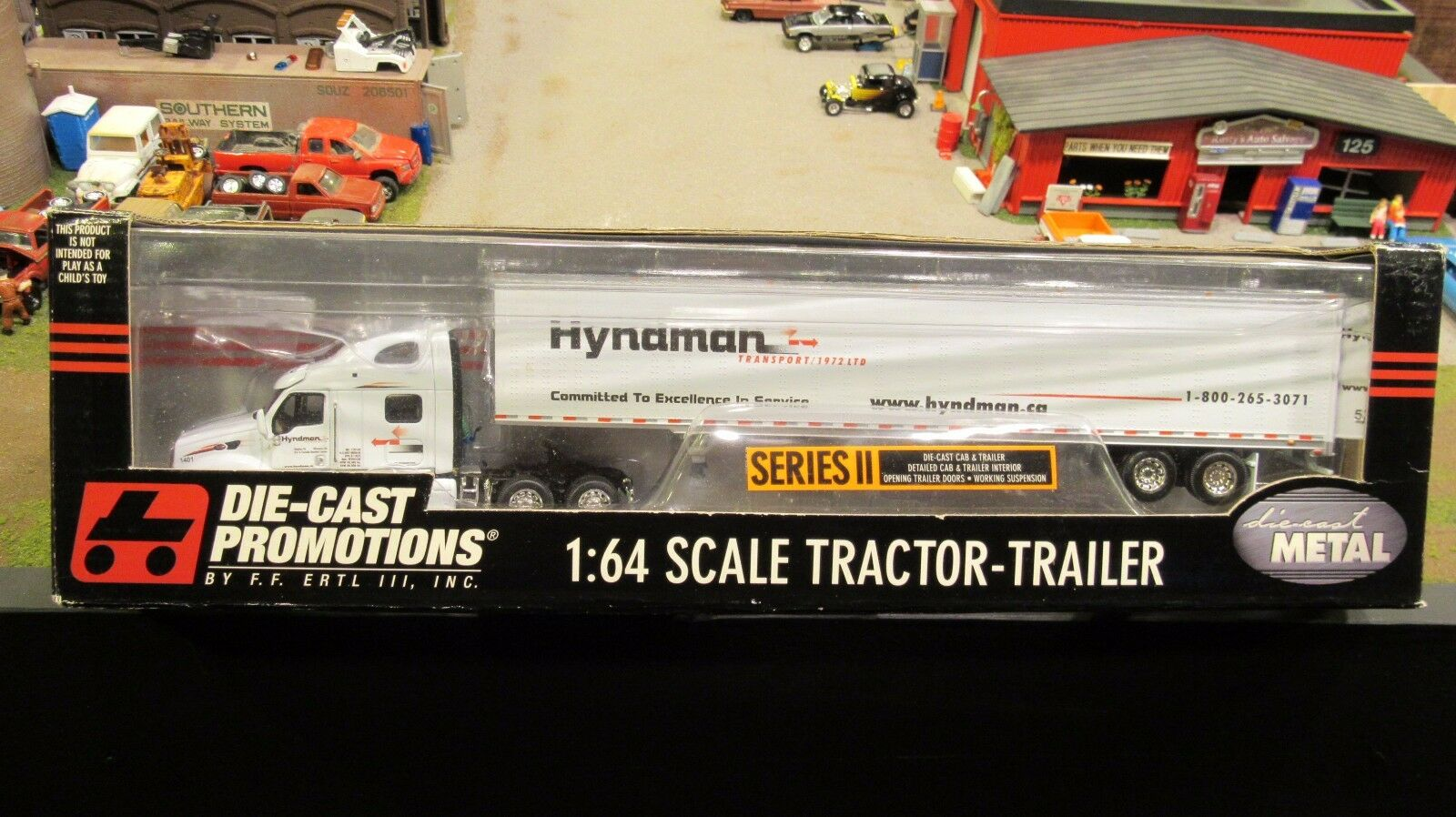 DCPHyndman transporte Peterbilt 387 Semi Camión Van Remolque 1 64