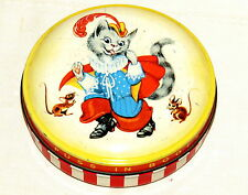 English Puss 'n Boots Cat Horner Toffee Tin 1940s