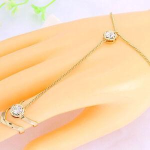 Fashion-Jewelry-Punk-Women-Lady-Crystal-Rhinestone-Gold-Plated-Ring-Bracelets
