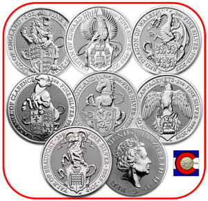 2016-2019-Queen-039-s-Beast-2oz-Silver-Lion-Griffin-Dragon-Unicorn-Bull-Falcon-Yale