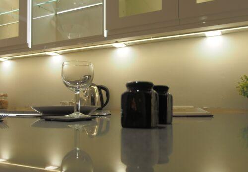 FLAT PANEL LED KITCHEN CABINET UNDER UNIT CUPBOARD LIGHT SQUARE WARM COOL WHITE